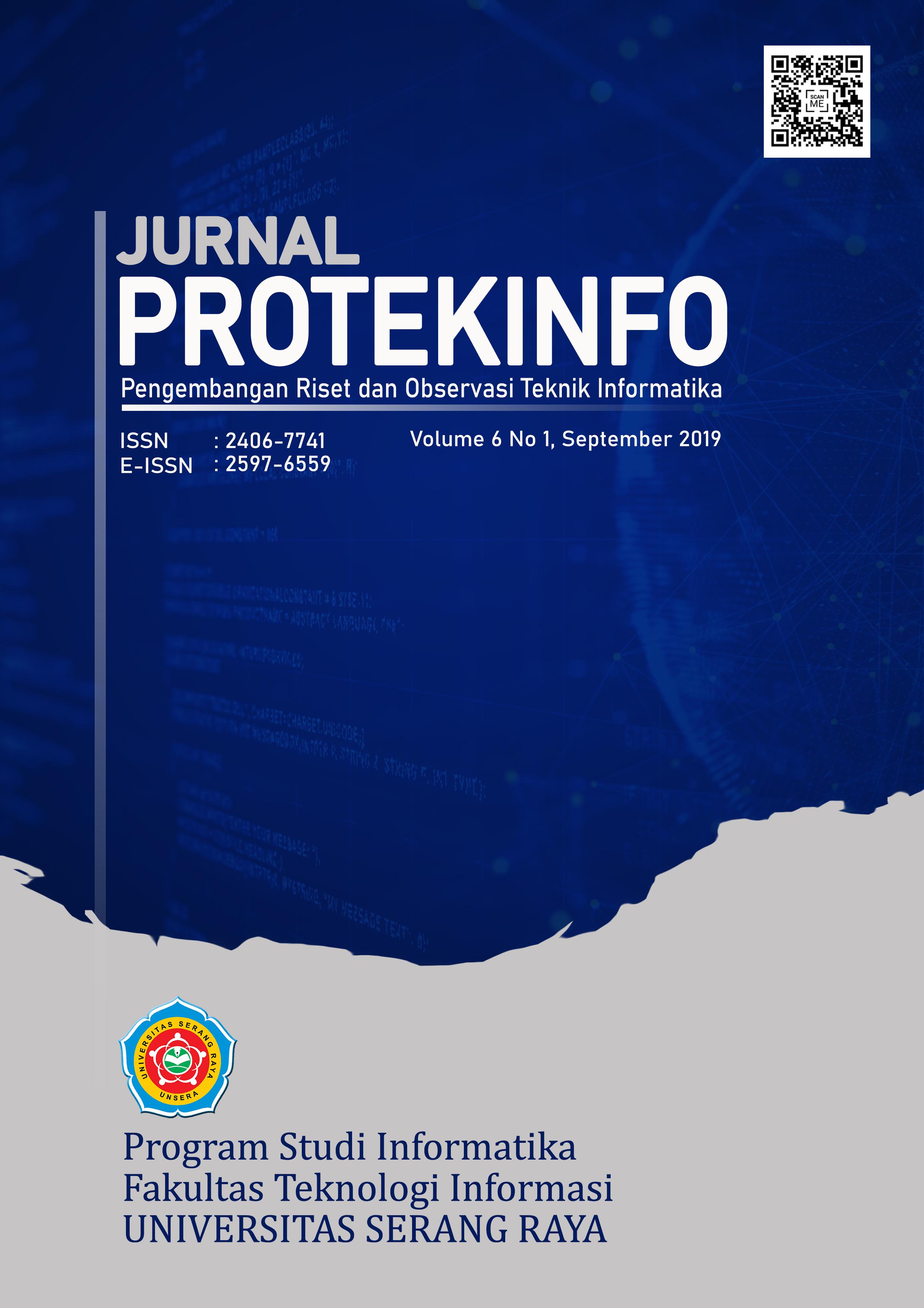 Protekinfo Volume 6 No 1 Sept 2019