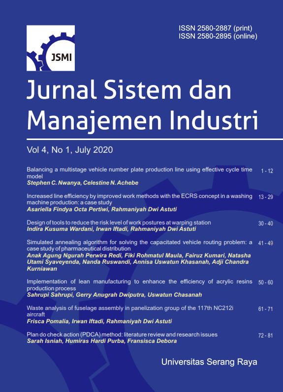Jurnal Sistem Dan Manajemen Industri